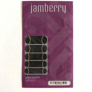 "Jamberry Nail Wraps Full Sheet ""Gold Streak"" Black"